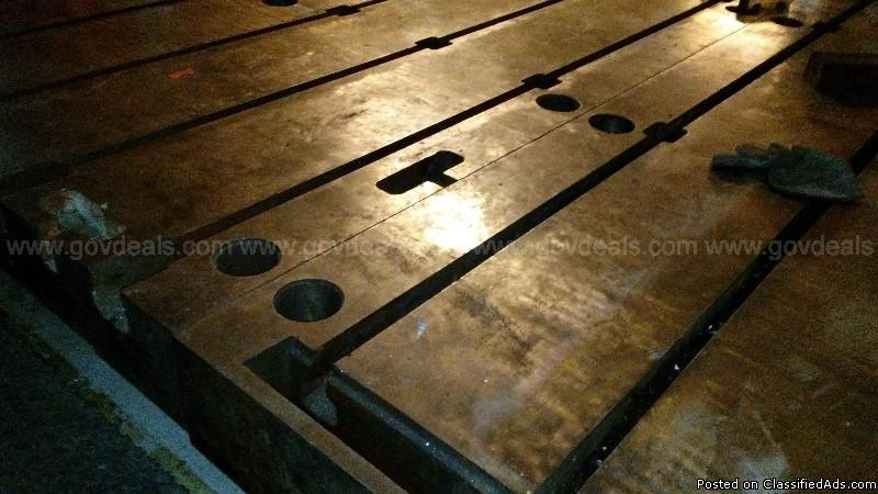 Two Baycast T-Slotted floor plates, 2