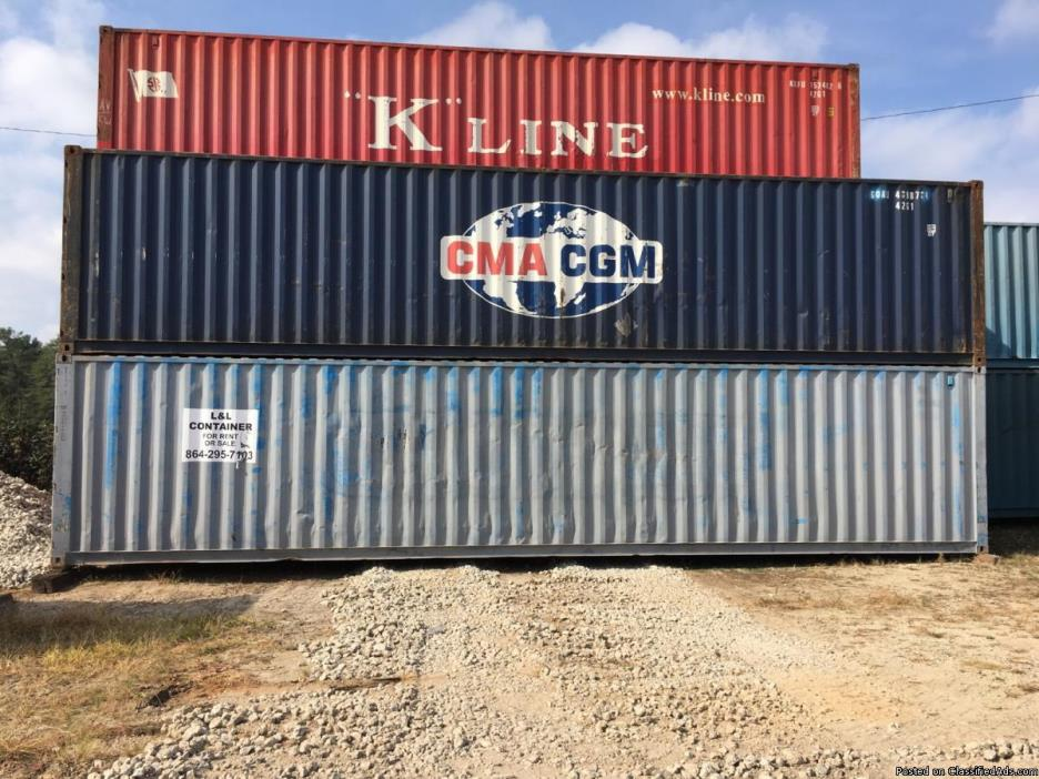 40' Steel containers- Over 300 Surplus! Must Go! - Starting at $900.00