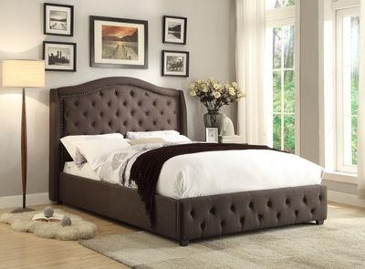 Queen Dark Grey Bed without mattress