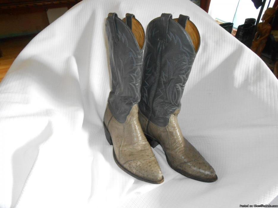 Tony Lama 7D Ostrich Cowboy boots