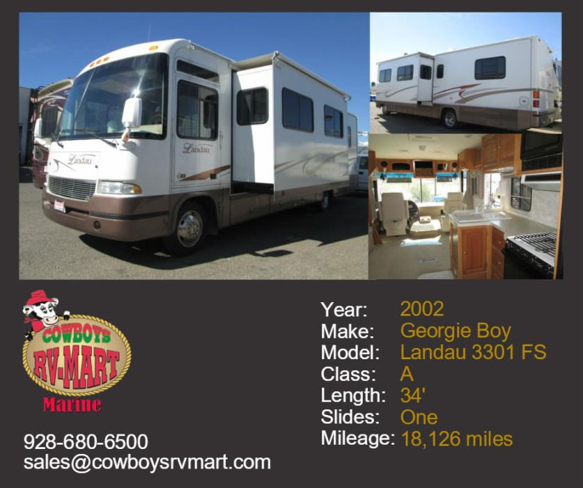 2002 Georgie Boy LANDAU 3301