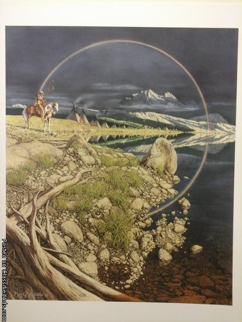 Bev Doolittle print - unframed in the original box - named the Sentinel