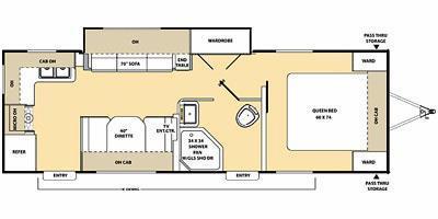 2015 Coachmen Catalina 253RKS Rear Kitchen, Sofa/Wardrobe Slide-out