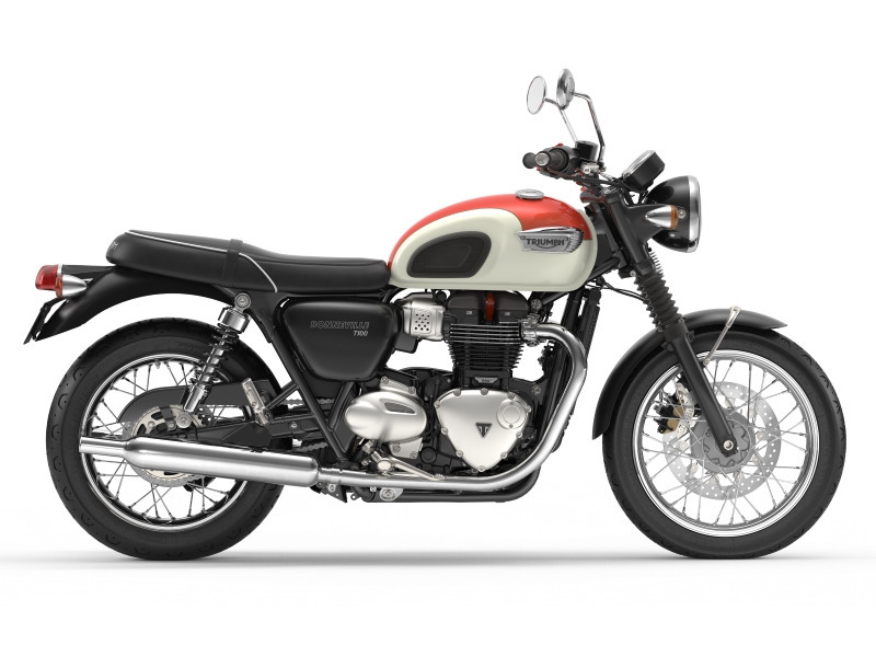 2017 Triumph Bonneville T100 New England White/Intense Orange