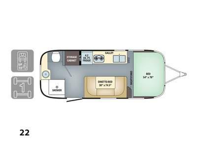2017 Airstream Sport 22FB