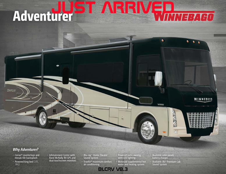 2017 Winnebago ADVENTURER 38Q