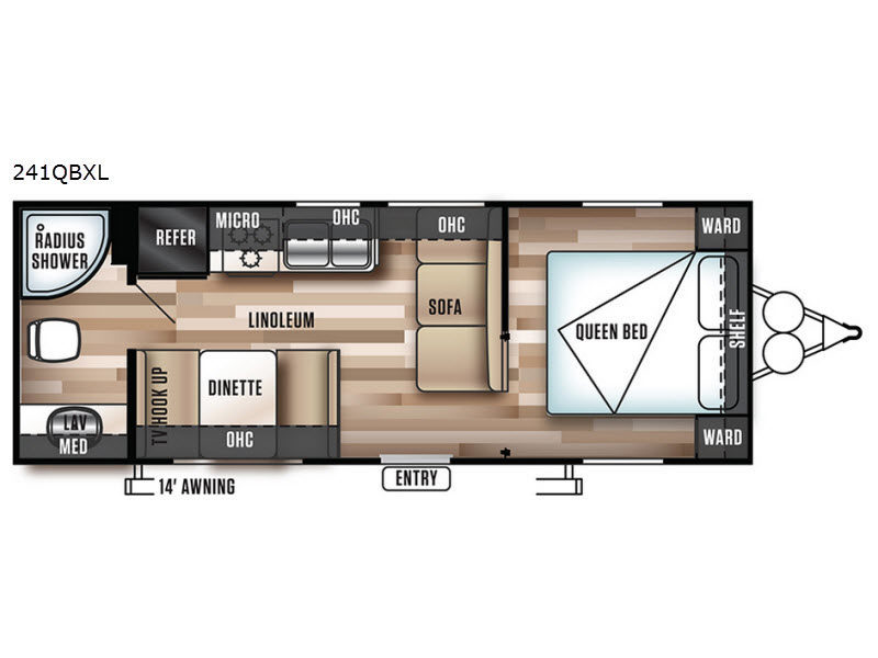 2018 Forest River Rv Wildwood X-Lite 241QBXL