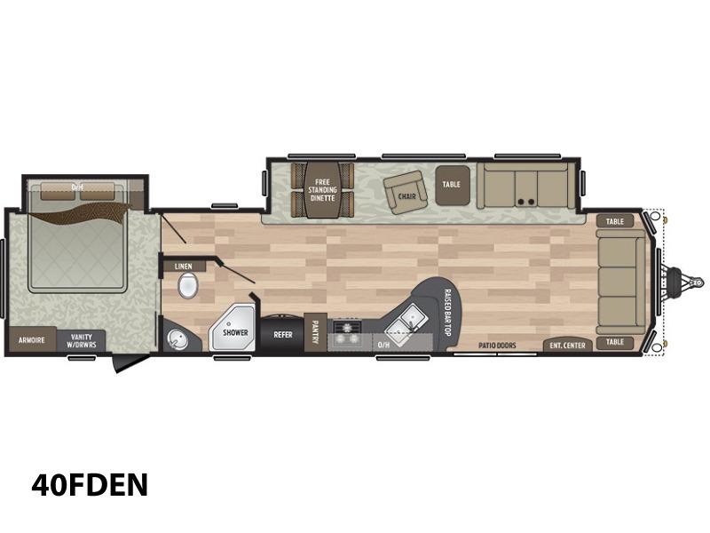 2017 Keystone Rv Residence 40FDEN
