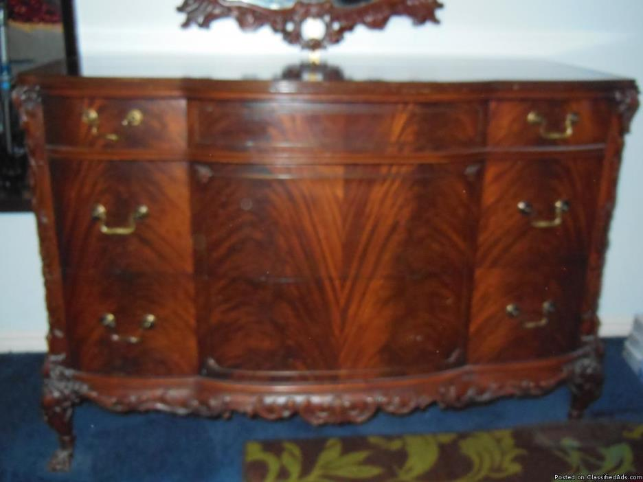 Antique 9 pc. Circa 1925 French; Cherry BEDROOM Suite