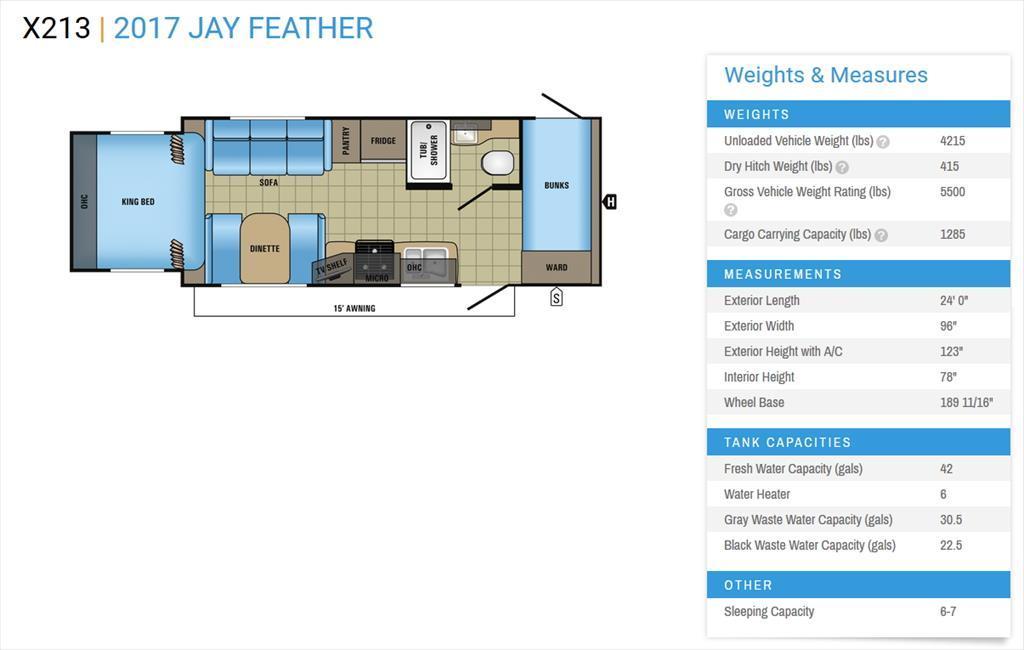 2018 Jayco Jay Feather X213