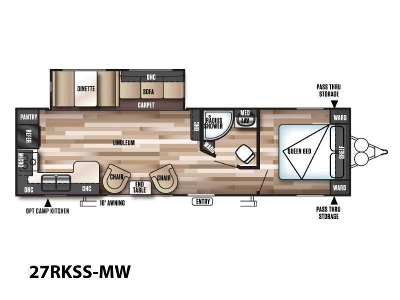 2017 Forest River Wildwood 27RKSS-MW