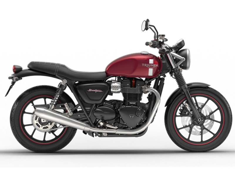 2017 Triumph Street Twin Cranberry Red