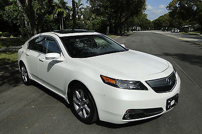 Acura : TL Base Sedan 4-Door 2013 acura tl pearl white w 21 758 miles dont miss out