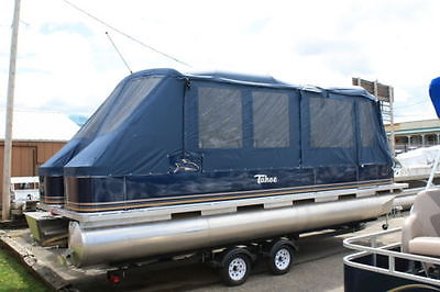 New 24 ft high end pontoon boat with camper enclosure
