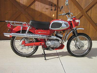 Kawasaki : Other 1966 1965 1967 1968 1969 1970 kawasaki f 1 tr enduro original paint