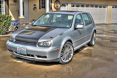 Volkswagen : Golf GL Gleaming 2000 VW Golf, 18 Inch Custom Rims and Carbon Fiber Hood