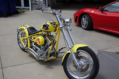 Titan : Softail Chopper 2005 titan softail custom chopper 175 miles monte moore paint job skull gangster
