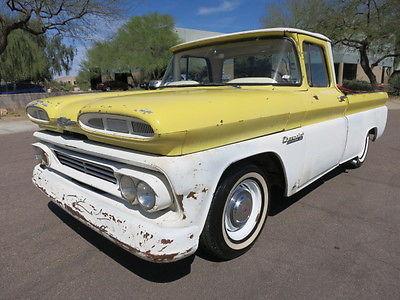 Chevrolet : C-10 Apache C/10 Short Bed Big Window Patina 350ci V8 4spd Rat Rod LOOK 57 58 59 61 62 63 65 64