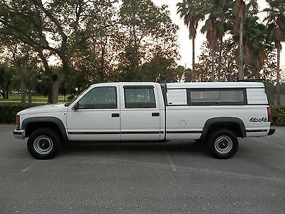 Chevrolet : C/K Pickup 3500 CREWCAB 4x4 LONGBED SINGLE REAR WHEEL GAS FLORIDA 2000 chevrolet crewcab 3500 4 x 4 longbed single rear wheel gas