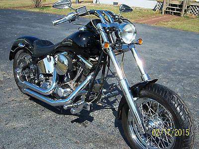 Custom Built Motorcycles : Chopper 1987 harley davidson soft tail custom chopper