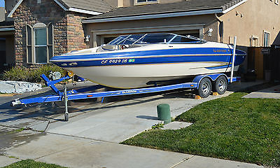 Blue 2005 Glastron GX235 - open bow, fishing/wake boarding boat