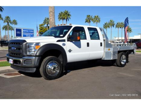 Ford : Other Pickups Cab Chassis F550 4WD Crew Cab XL Power Equipment 11' Gooseneck Commercial Flatbed Work Truck