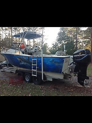 26 foot custom painted mako boat