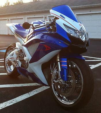 Suzuki : GSX-R 2008 suzuki gsxr 600 sportbike 5844 miles blue white red