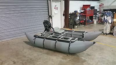 Inflatable pontoon fishing boat W/ Lehr propane motor
