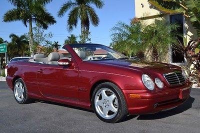 Mercedes-Benz : CLK-Class Sport 2003 mercedes clk 320 sport heated leather firemist red cd changer 85 k