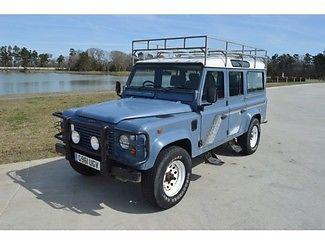 Land Rover : Defender Defender 1989 land rover defender 110 12 passenger turbo diesel