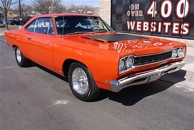 Plymouth : Road Runner Hardtop 1968 plymouth road runner hardtop coupe 4 speed hurst 440 ci hemi orange clean