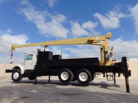 Other Makes WHOLESALE 10 ton flatbed crane truck international 4900 nat l crane 400 a 46 ft boom