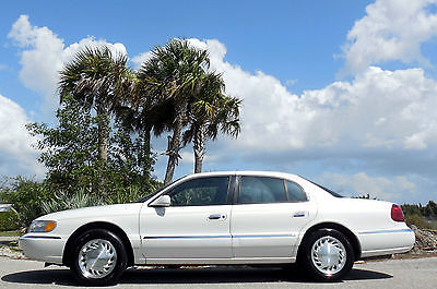 Lincoln : Continental CARFAX CERTIFIED FLORIDA LUXURY RIDE  Garage Kept~2 Owners~White Pearl~Leather~Michelins~Nice~LOW MILES~99 00 01 02