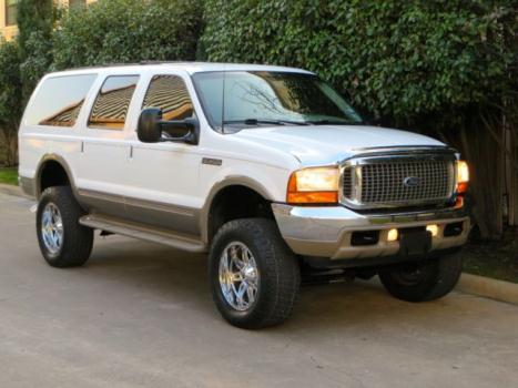 Ford : Excursion 4x4 DIESEL 2 owner 7.3 l diesel limited 4 x 4 3 rd row 4 lift 20 rims tx very clean