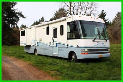 2000 National Sea View 8342 34' Class A Ford Gasoline 2 Slide Outs Generator