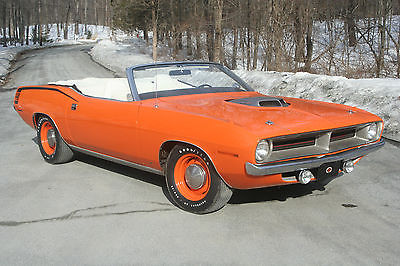 Plymouth : Barracuda Cuda 1970 cuda convertible original 440 6 shaker car one of 12 produced