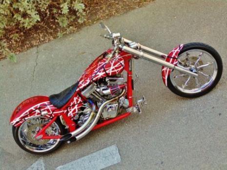 American Ironhorse Custom VAN HALEN CHOPPER Running With The Devil Ironhorse Motorcycle