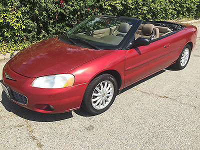 Chrysler : Sebring LXI LIMITED  SOUTHERN CALIFORNIA CORROSION FREE HEATED LEATHER STAYFAST CLOTH TOP RED / TAN