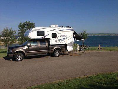 2012 Lance 855S Truck Camper 1 Owner 1 Slide 1 Awning Sleeps 4 Queen Bed