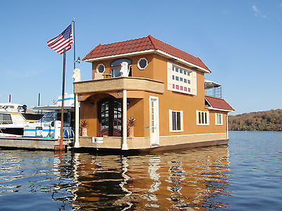 2015 EXTREME HOUSEBOAT TV show  Custom 2-story NEW boat