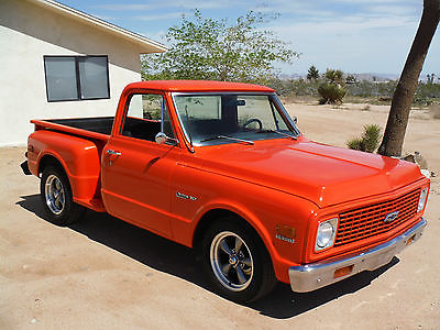 Chevrolet : C-10 SHORT BED STEPSIDE 1972 chevy c 10 short bed stepside 383 4 speed california truck rust free