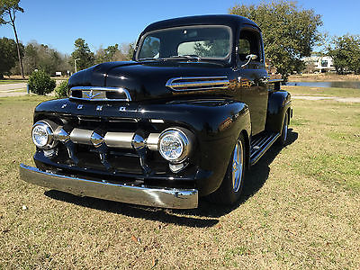 Ford : Other Pickups 5 Star Delux Custom 52 ford f 1 pickup black new v 8 show quality a c mustsang ii sus positrk