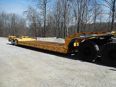 2001 Eager Beaver 35gsl RGN lowboy trailer New paint, boards very low miles !!!!