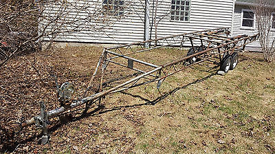 Hoosier Pontoon Trailer, Crank Up Style, Tandem Axle, 24 foot