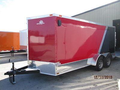 2015 New 7x16 Enclosed Cargo Trailer Motorcycle Toy Hauler VNose 16' Box ATV
