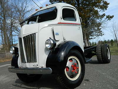 Ford : Other Pickups Cab Over 1947 ford coe truck flathead v 8 flatbed car hauler one awesome rare truck