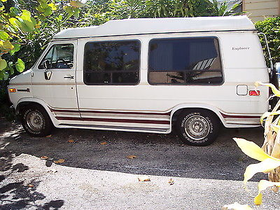 GMC Vandura Converson By Explorer 1992 Gmc 2500 Hi Top White Conversion Van