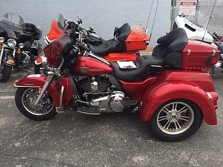 Harley-Davidson : Touring 2013 used ember red sunglo harley davidson tri glide three wheel trike flhtcutg