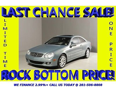 Mercedes-Benz : CLK-Class CLK350 Coupe SUNROOF LEATHER P1 WOOD CLEAN CARFAX CLEAN CARFAX SUNROOF LEATHER PREM  SOUND LEATHER ALLOYS WOOD STEERING COUPE !